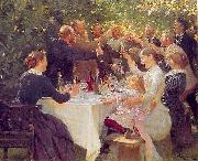 Peder Severin Kroyer Hip hip hooray painting